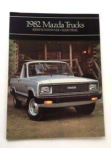 1982 Mazda B2000 B2200 Truck Original Car Sales Brochure