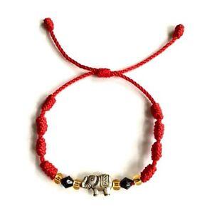 Image Is Loading Red String Elephant Bracelet Good Luck Adjule S