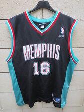 Maillot basket MEMPHIS GRIZZLIES shirt REEBOK NBA Pau GASOL n°16 vintage L