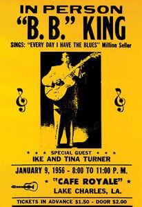 Music Concert Advert T-Bone Walker Band Blues Usa 12X16 Inch Framed Art Print
