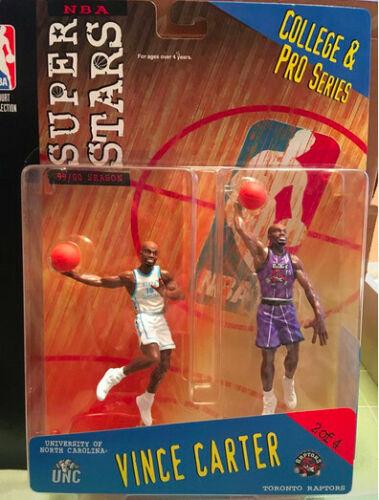 1999 UNC//Rapaces NBA SUPER STARS College et Pro series//Vince Carter figures