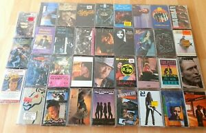 35-SEALED-Country-Rock-Cassette-Tapes-80s-Bundle-FACTORY-SEALED-Job-lot