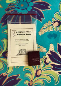 The-French-Legation-Amistad-Press-Micro-Miniature-Book-DJ-Marbled-Endpapers