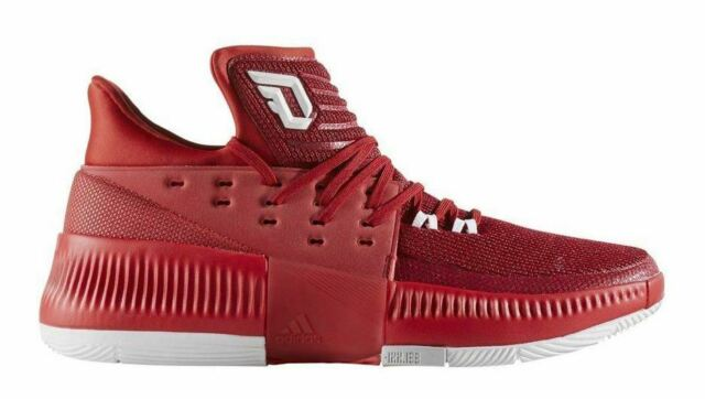 adidas Dame 3 Damian Lillard Power Red Men Basketball Shoes SNEAKERS BY3192 UK 10