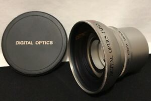 Digital Optics .45x High Def Macro Lens W/ Konica Minolta Adapter Tube Z3 52mm