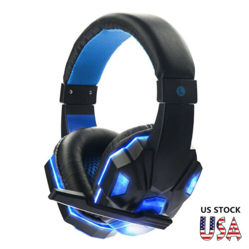 3.5mm Wired Gaming Headset Stereo Surround Headphone With Mic For PC//Laptop//PS4