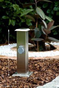 Charmant ... Borne Electrique Eclairage De Jardin Avec 2 Prises  Belles Idees