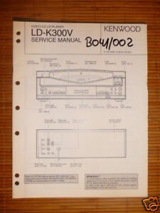 Tv, Video & Audio original Service-manual Kenwood Ld-k300v Cd-cdv-ld Pla