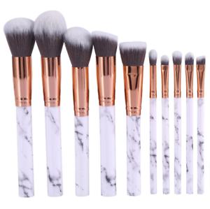 10PCS-Kabuki-Make-up-Brushes-Set-Makeup-Foundation-Blusher-Face-Powder-Brush-NEW