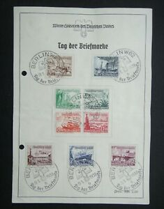 Germany-Nazi-1937-Stamps-Used-Lifeboat-WWII-Third-Reich-Deutschland-German