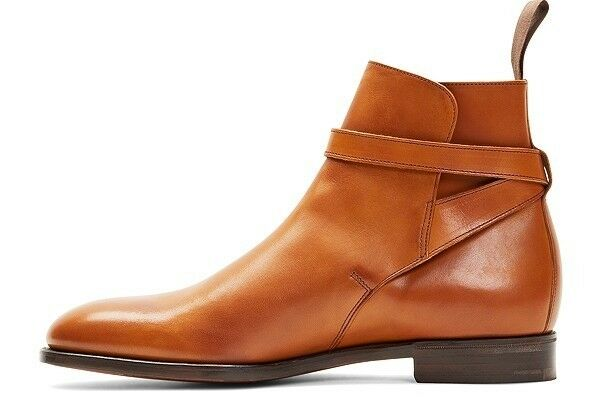 Men Casual Tan Tan Tan Leather Chelsea Stiefel,Ankle Buckle Strap Stiefel,Jodhpur Jumper Stiefel ce4eb2