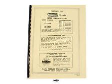 "Sears Craftsman 12"" Metal Lathe 101.07403, 101.27430, 101.27440 Parts List *1059"