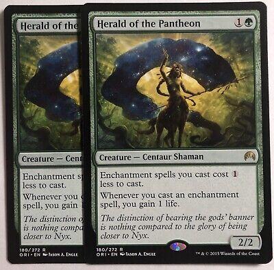 Foil MTG Magic Origins R M//NM x1 Herald of the Pantheon English