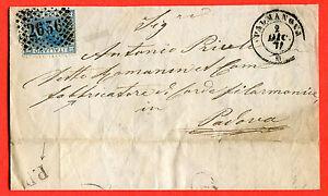 ITALY - 1868 cover from PALMANOVA con BOLLO P.P. (!!!!!) (252571)