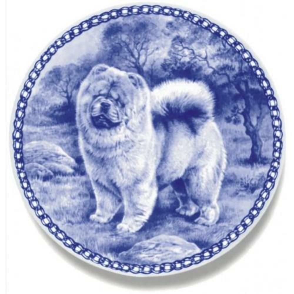 Chow Chow  Dog Plate made in Denmark from the finest European Porcelain