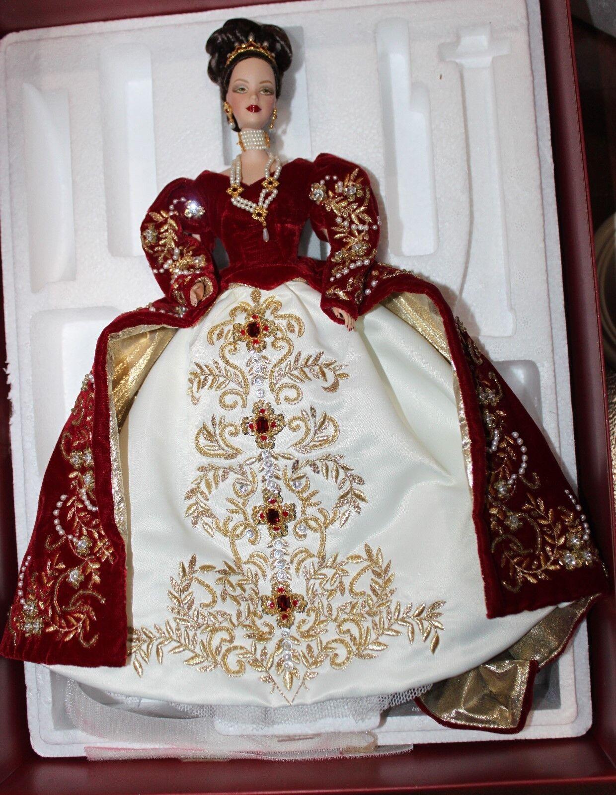 Imperial Fabrege esplendor Porcelana Muñeca Barbie 2000 Edición Limitada 01528