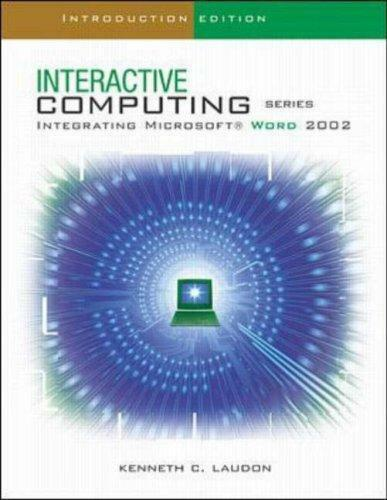 The Interactive Computing Series: Word 2002- Introductory: Introductory Edition,