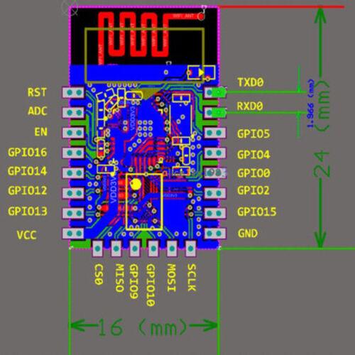 ESP8266 ESP-12E porta seriale Wireless WIFI Ricetrasmittente Modulo NE0063 Nuovo Regno Unito