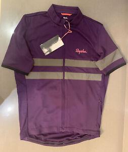Rapha Brevet Lightweight Jersey Dark Purple Size Medium Brand New With Tag
