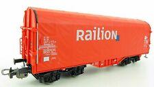 """Piko 72012 Schiebeplanenwagen """"Railion"""" der DB, OVP, TOP ! (KN0634)"""