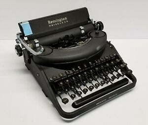 1946 Vintage Remington Noiseless Model 7 Typewriter with Case Serial #85274