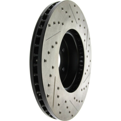 Disc Brake Rotor-Sport Drilled//Slotted Disc Front Right Stoptech 127.47024R
