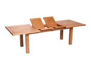 Gut bekannt Gartentisch Ausziehtisch Gartenmöbel Tisch COMODORO 260x100cm Holz VR54
