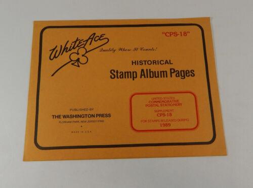 White Ace 18 US 89 Briefmarkenalbum Seiten Historische Gedenkpostbeilage vvPwAq7rx