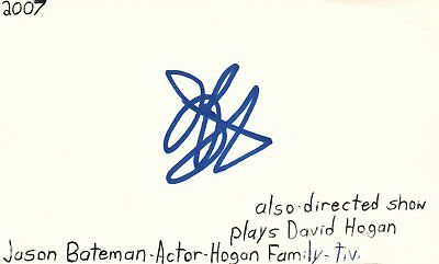 Jason Bateman Actor Hogan Family Tv Movie Autographed Signed Index Card Jsa Coa Cards & Papers Entertainment Memorabilia