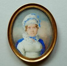 Miniatur Portrait einer Matrone, um 1800, wohl Tempera