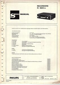 Tv, Video & Audio Clever Philips Original Service Manual Für N 2602 Car Spezieller Kauf