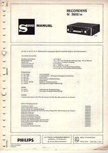 Tv, Video & Audio Clever Philips Original Service Manual Für N 2602 Car Spezieller Kauf