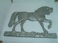 Antique Cast Iron Horse Bracket Wall Mount Mail Box Weathervane Americana