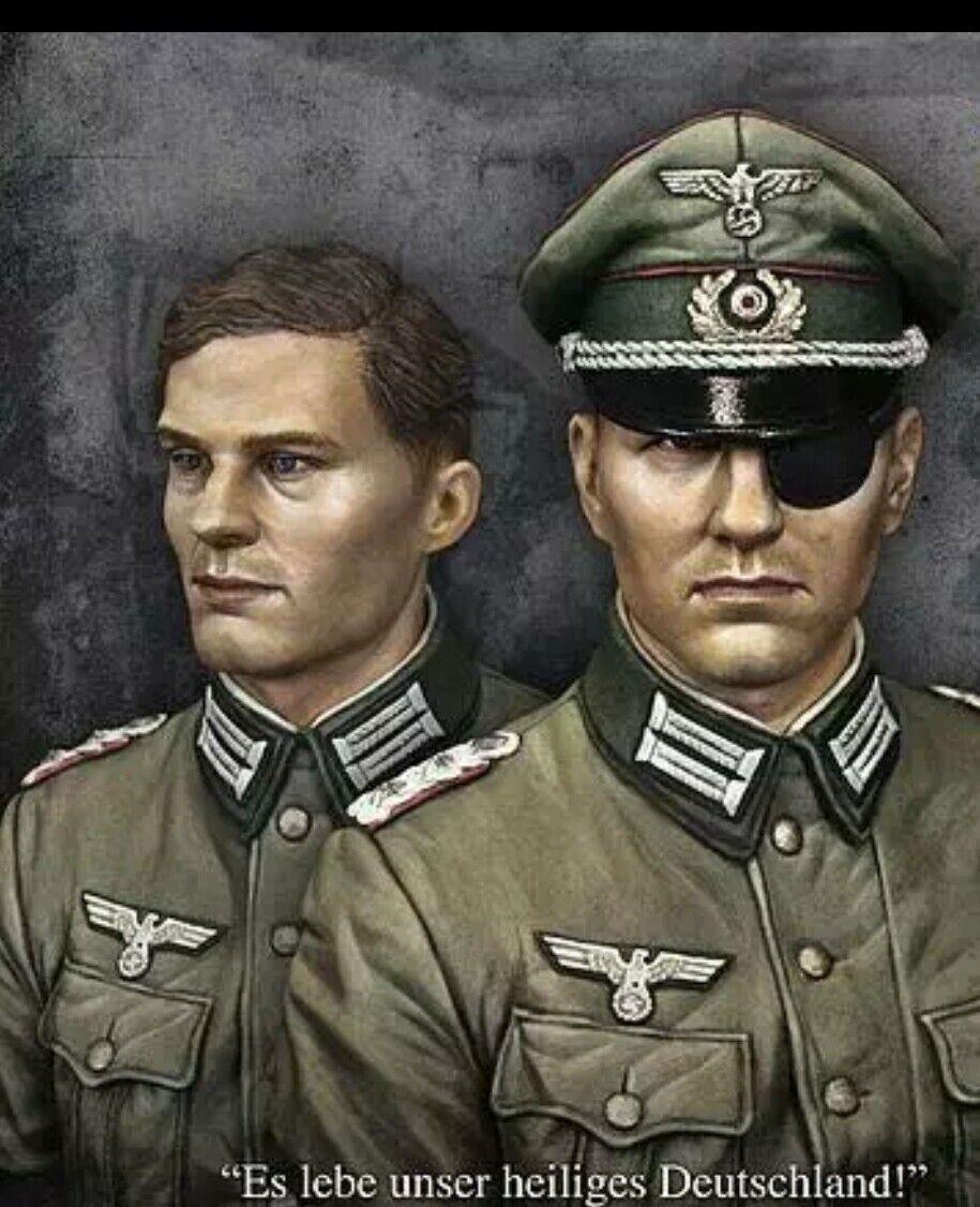 1 10  BUST Resin Figure Model Kit Claus von Stauffenberg. Operation Valkyrie
