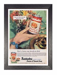 Intelligent Batchelors Soupe Ancien Publicité Image Vintage Photo Mural Décor Rétro Œuvre