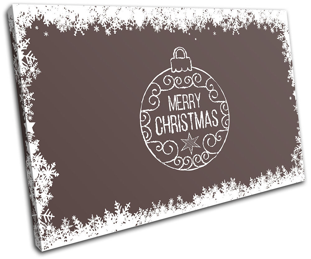 Christmas Decoration Wall Canvas ART Print XMAS Picture Gift  04 marron Christmas