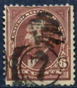 Scott # 256-un utilisé 6 cent James A. Garfield Stamp-en excellent état