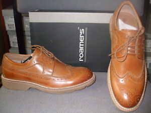 Flexmaster Brogue Cap Shoes Wing Tan Sizes 10 9 Gibson Light 6 Roamers ZqwESq