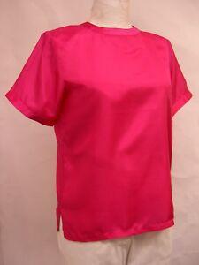 Maurada-SILK-Plus-Sz-1X-5X-Ladies-Pullover-Blouse-Washable-Short-Slv-MANY-COLORS