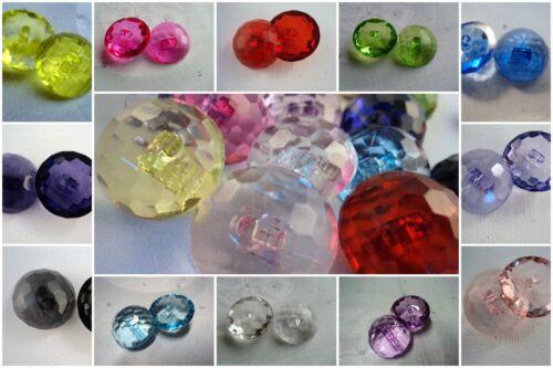 B226cl-25mm 4 Clair Grande Cristal Diamant Verre Effet italien Boutons Veste