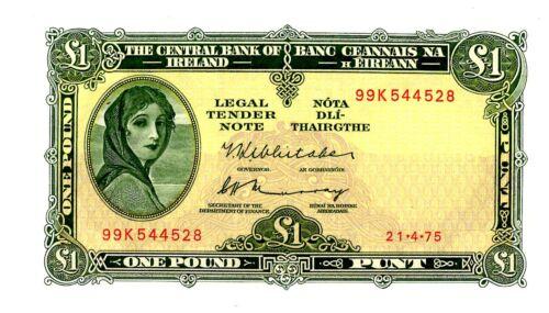 Ireland Republic ... P-64c ... 1 Pound ... 1975 ... *AU*