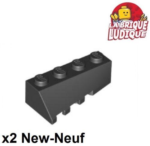 Lego 2x Wedge 4x2 sloped right droit pente brique brick noir//black 43720 NEUF