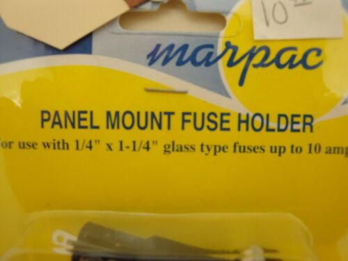 NOS Marpac 7-0154 Panel Mount Glass Type Fuse Holder 1//4 x 1-1//4 #992-T19-ENV