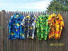 4X Aloha Hawaiian Bowling Mens Shirts 2XL Flowers Print  (4 shirts total)