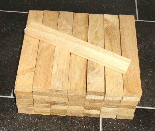 Holzleisten 8x23x160 40 Stück Eiche 5 zehntel Aufmaß Abmessung ca