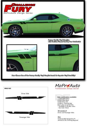 2011-2018 2019 Dodge Challenger Fury Side Door Pro Vinyl Stripes Graphic Decals