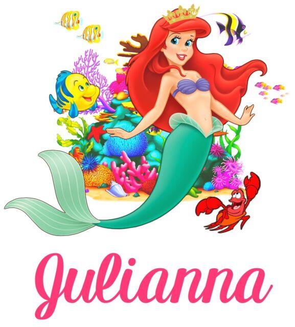 Little Mermaid custom Ariel Tshirt Personalize Birthday gift favor Kids disney
