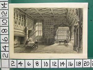 C1834 Antik Aufdruck ~ Speke Hall ~ Lancashire ~ Challis
