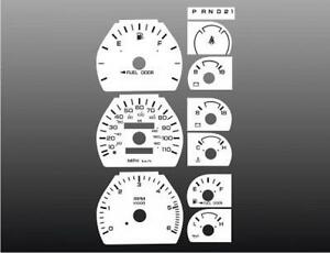 1994-1996-Dodge-Dakota-Dash-Cluster-White-Face-Gauges-94-96