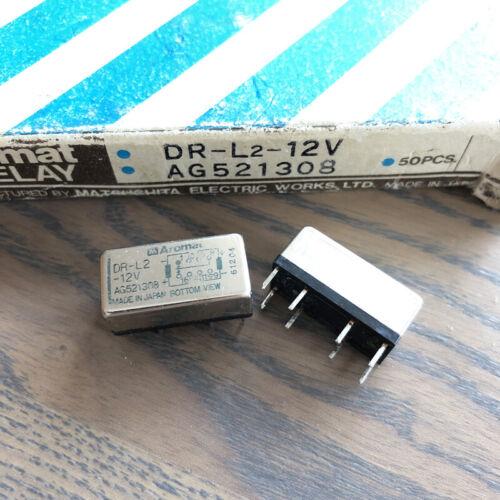 Aromat DR-L2-12V Coil Latching High Reliability Relay 12VDC 2PCS